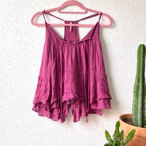 Free People | Embroidered Boho Top
